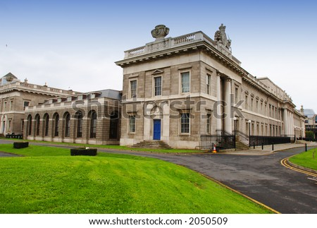 Customs House, Fine Victorian Architectural Feature in Dublin - stock photo