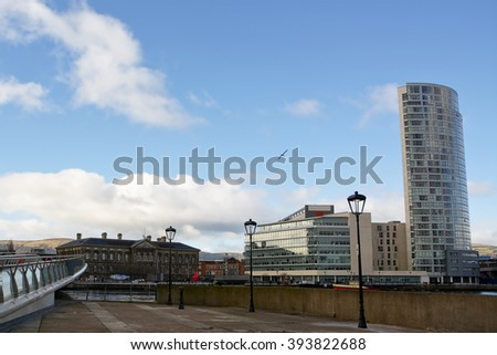 Customs House in downtown of Belfast - stock photo