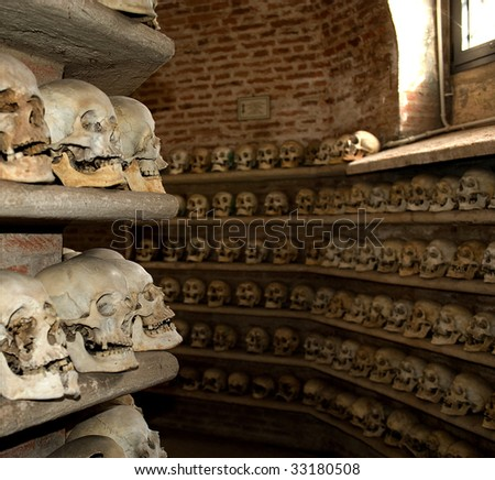 Custoza (Vr),Veneto,Italy.Ossuary of the wars of Independence of Italy in 1848,1859,1866