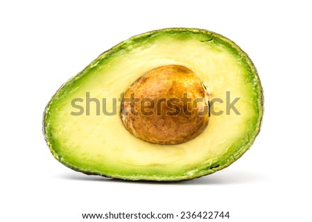cut avocado  - stock photo