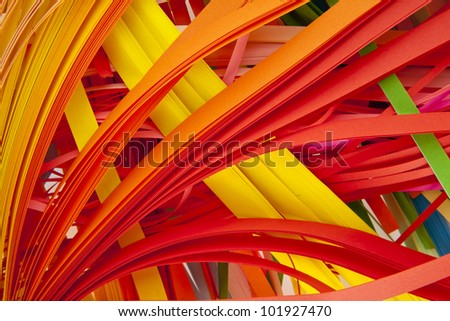 cut colour paper as background - stock photo
