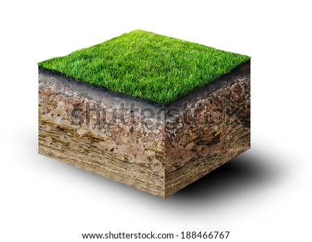 Earth cut out stock images royalty free images vectors for Soil 3d model