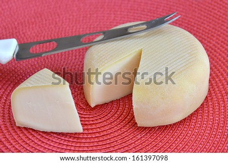 cut portion cheese and cheese knife