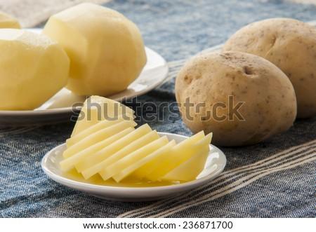 cut potatoes - stock photo