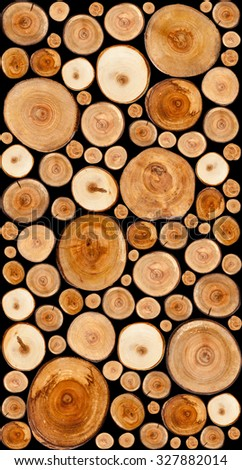 Cut tree stumps background or texture - stock photo