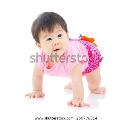 Cute asian baby - stock photo