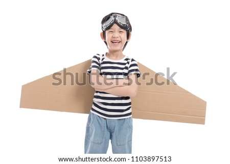 Cute asian child wearing aviator costume on white background isolated  sc 1 st  Shutterstock & Cute Asian Child Wearing Aviator Costume Stock Photo (Royalty Free ...