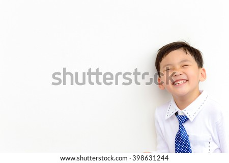 Cute Asian Thai boy are happy and enjoying