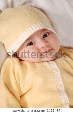 cute baby - stock photo