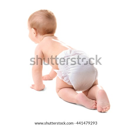 Cute baby boy, isolated on white