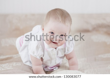 Cute baby having fun