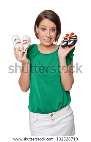 cute baby shoes - stock photo