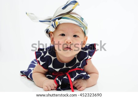 cute baby wear cookies isolated on the white backgorund