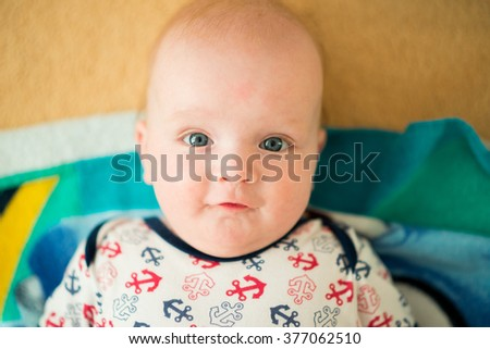 Cute baby with sailor dress