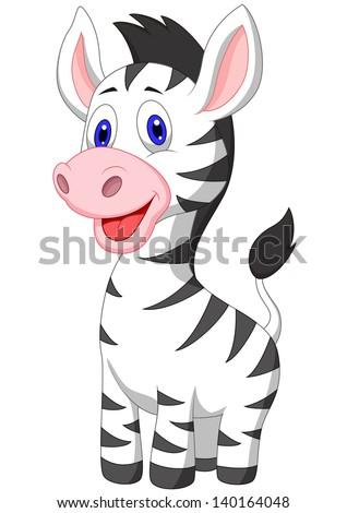Fun Zoo Illustration Cute Zebra Stock Vector 94904824