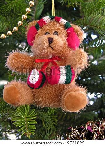 cute bear on christmas tree - Bear Christmas Tree