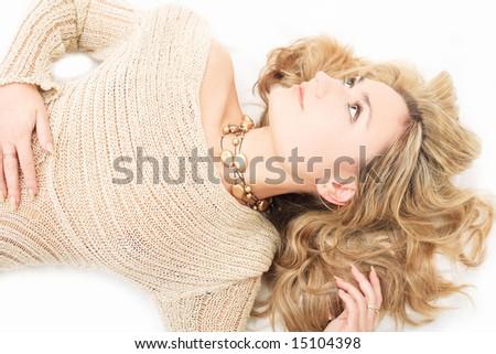 Cute blonde - stock photo