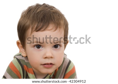 cute boy isoltad on white background