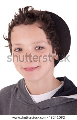 Cute boy, smiling - stock photo