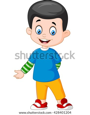 Cute boy standing  - stock photo