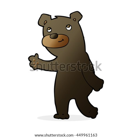 cute cartoon black bear