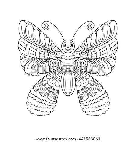 Cute Cartoon Butterfly Ornament Background Cover Stock Illustration ...
