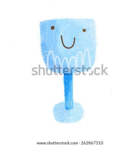 Cute cartoon character - stock photo