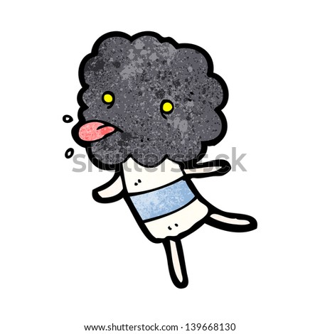 cute cartoon cloud head creature