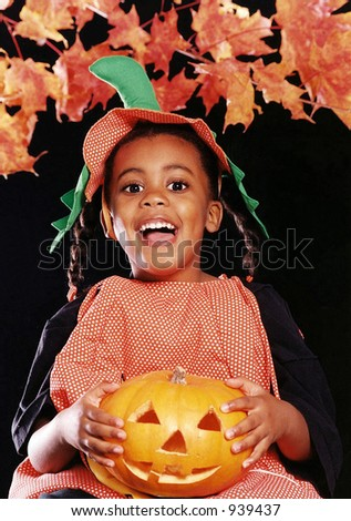 cute child with halloween costume - stock photo