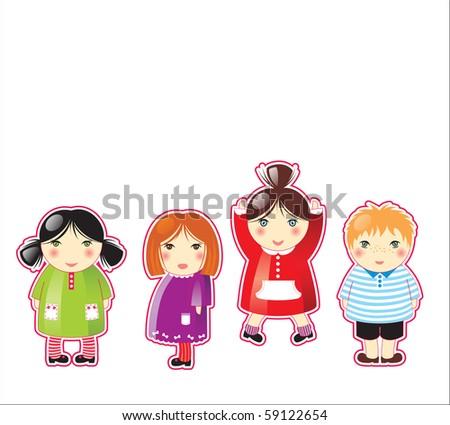 cute children - stock photo
