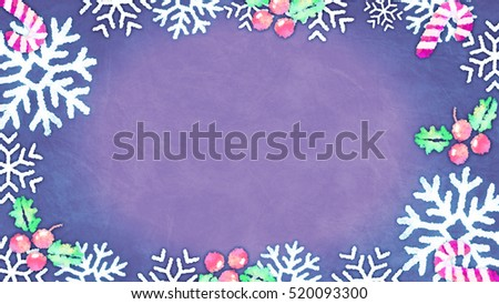 Cute Christmas frame with ornaments and decorations. Add your own logo, text and greetings.