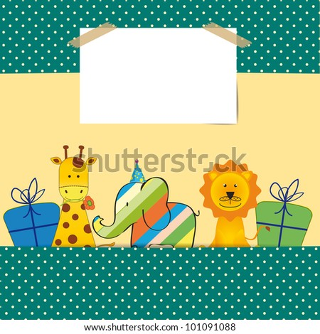 Cute colorful card on your happy birthday