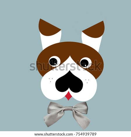 Beautiful Ribbon Bow Adorable Dog - stock-photo-cute-dog-portrait-with-silver-ribbon-bow-digital-generated-illustration-as-a-pattern-for-kids-754939789  2018_521739  .jpg