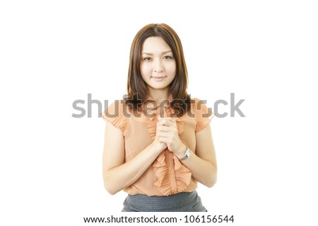 Cute?female office worker - stock photo