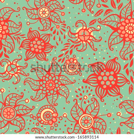 Cute floral seamless pattern. Can be used for wallpapers, fills, web page background, surface textures.