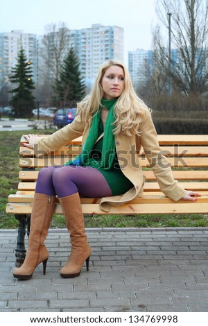 Girl Bench Sitting Stock Photos Images Amp Pictures