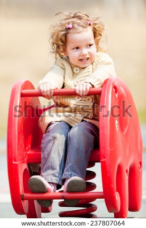 Cute girl in the park Outdoors shoot - stock photo