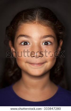 Cute girl portrait - stock photo