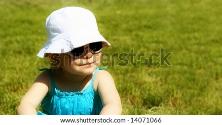 "Cute girl with sunny smile (shot in ""glamour"" style) - stock photo"
