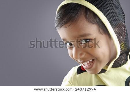 Cute Indian Little Boy - stock photo