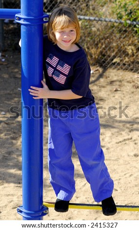 Cute kid in a playground