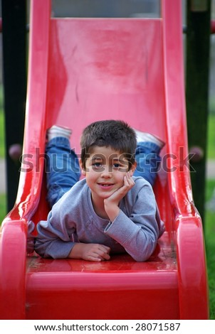 Cute kid on playground