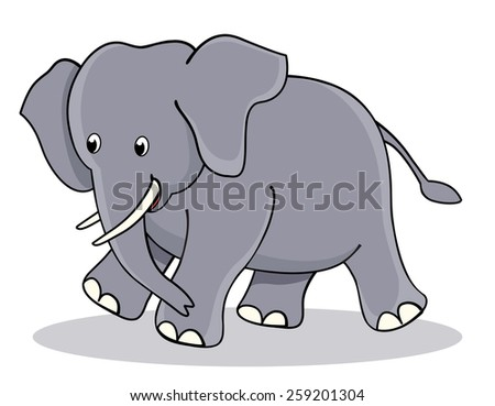 Cute little baby elephant / jumbo clipart isolated on white background. perfect for make kids birthday or other invitation cards / greeting