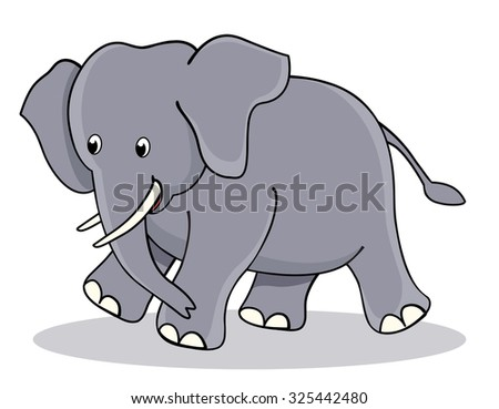 Cute little baby elephant / jumbo clipart isolated on white background. perfect for make kids birhday or other invitation cards / greetingd