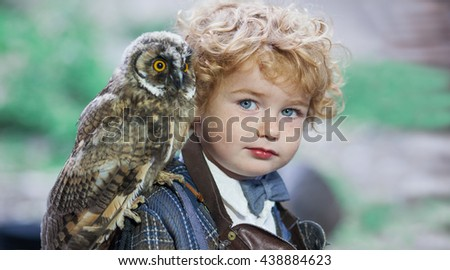 cute little boy owl harry potter stock photo edit now 438884623