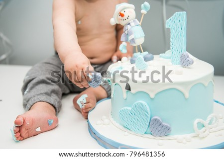 Cute Little Boy Eating His First Stock Photo Edit Now Shutterstock