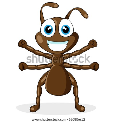 cute little brown ant