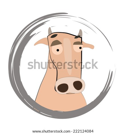 Cute little cow - stock photo