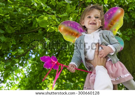 Cute little fairy girl - stock photo