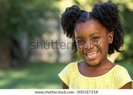 Cute little girl. - stock photo